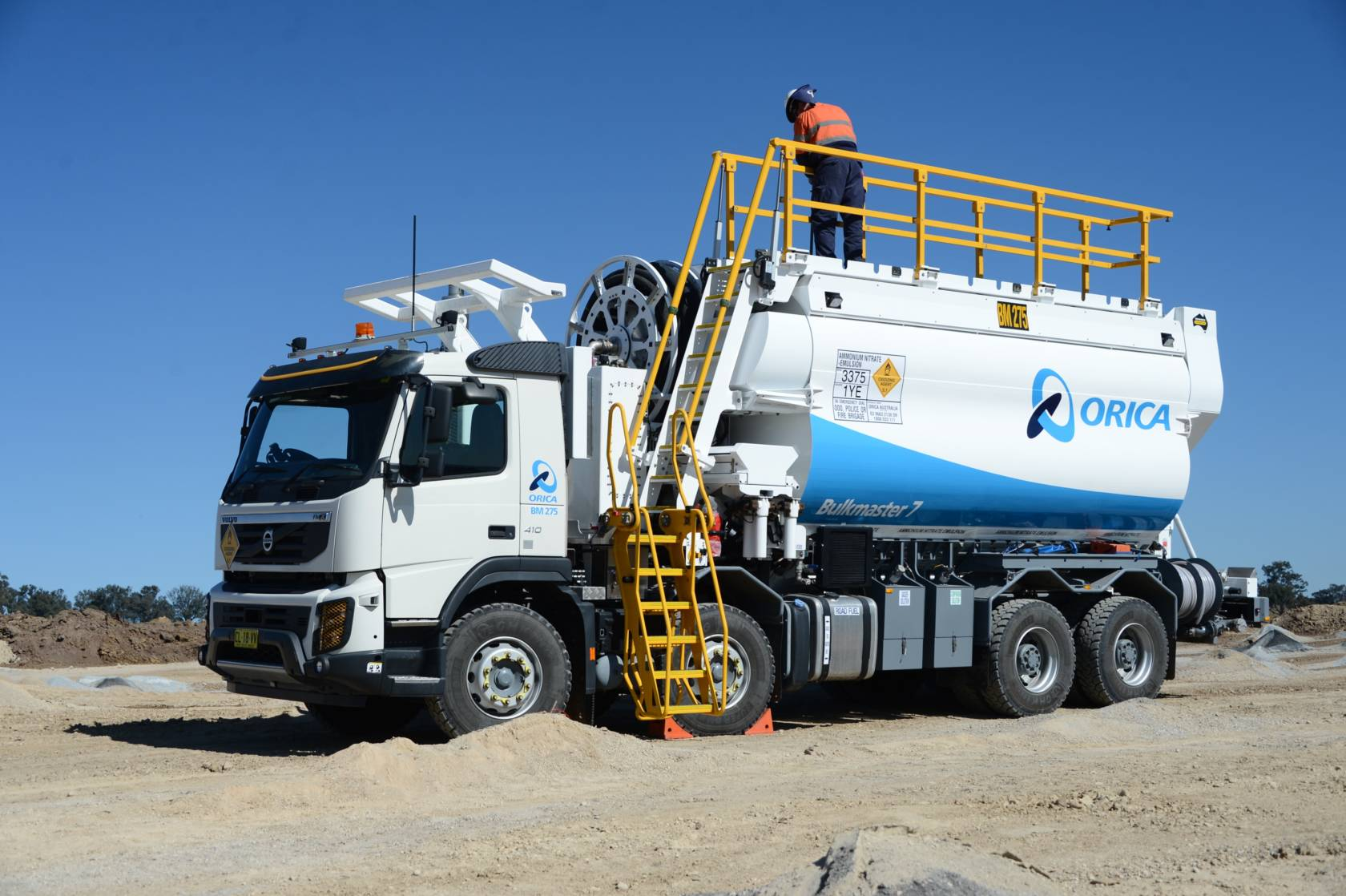 Orica next generation Bulkmaster™ 7 explosives delivery system
