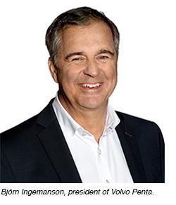 Björn Ingemanson, president of Volvo Penta.