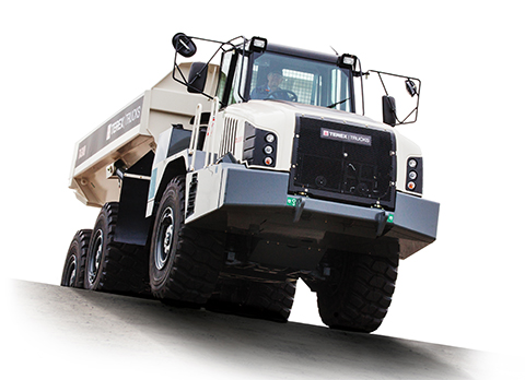 Weighing in at 28 tonnes, the upgraded TA300 is a robust and reliable workhorse