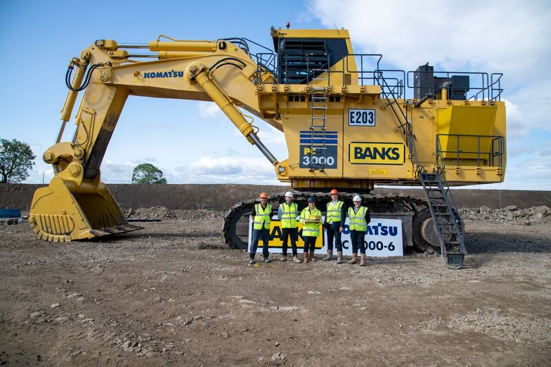Banks Mining invests in second Komatsu PC3000-6 excavator for new
