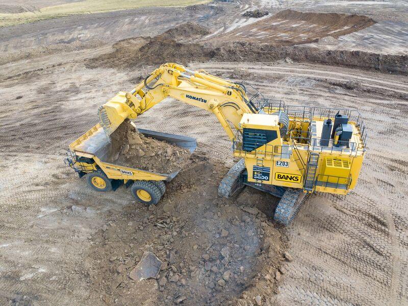 Banks Mining invests in second Komatsu PC3000-6 excavator