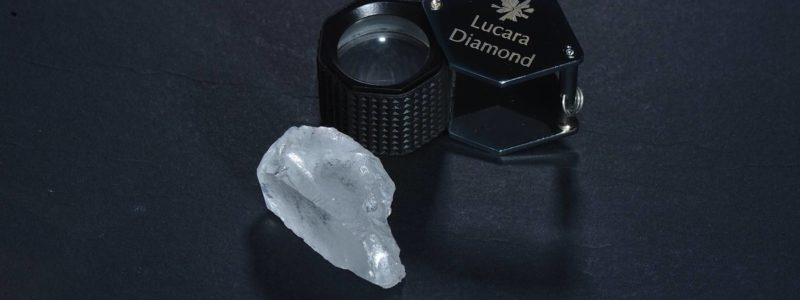 The 127 carat diamond recovered from the Karowe mine