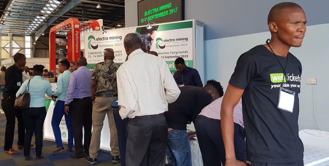 visitors at Electra Mining Botswana in 2017
