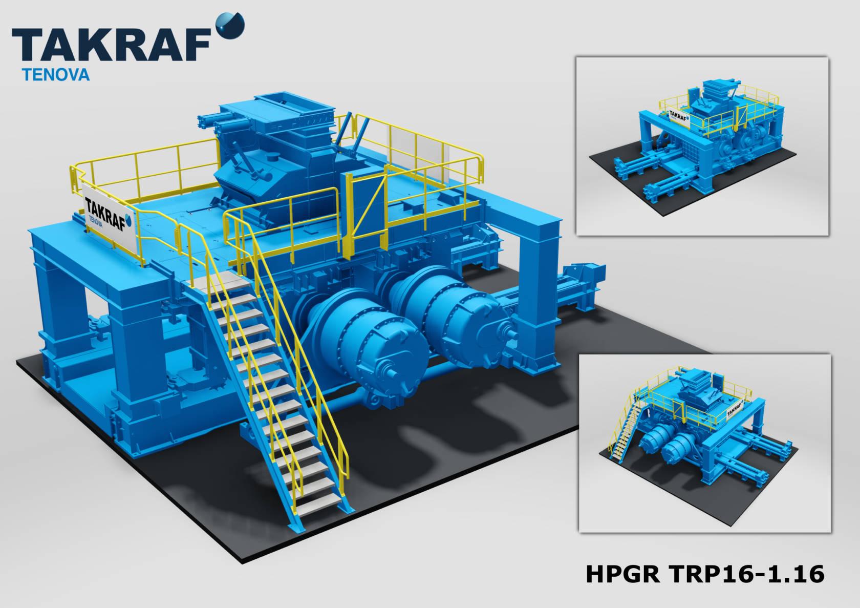 HPGR takrafmodel