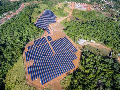 One of Voltalia's remote solar-diesel hybrid power plants