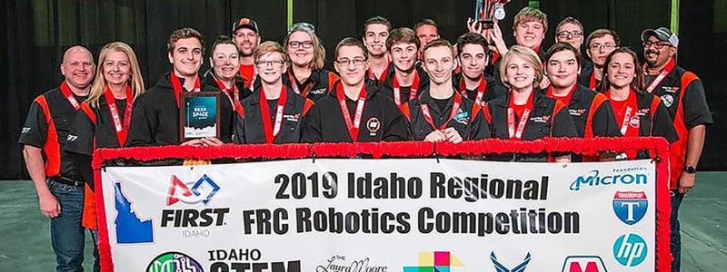 Martin Motion robotics team at the FRC Regional in Nampa, Idaho.
