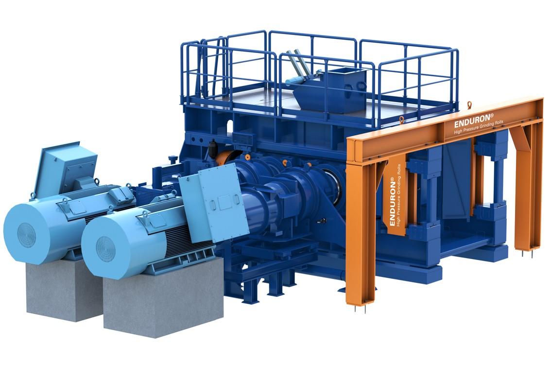 Enduron® High Pressure Grinding Rolls (HPGR) manufactured by Weir Minerals.