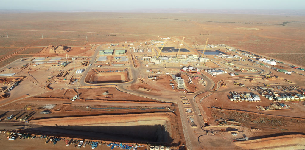 An aerial view of the Carrapateena mine site.