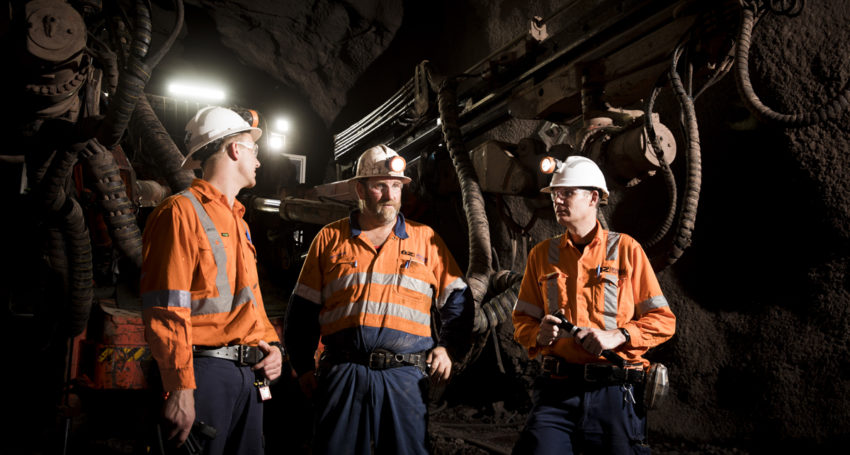Oz Minerals staff underground at Carrapateena.