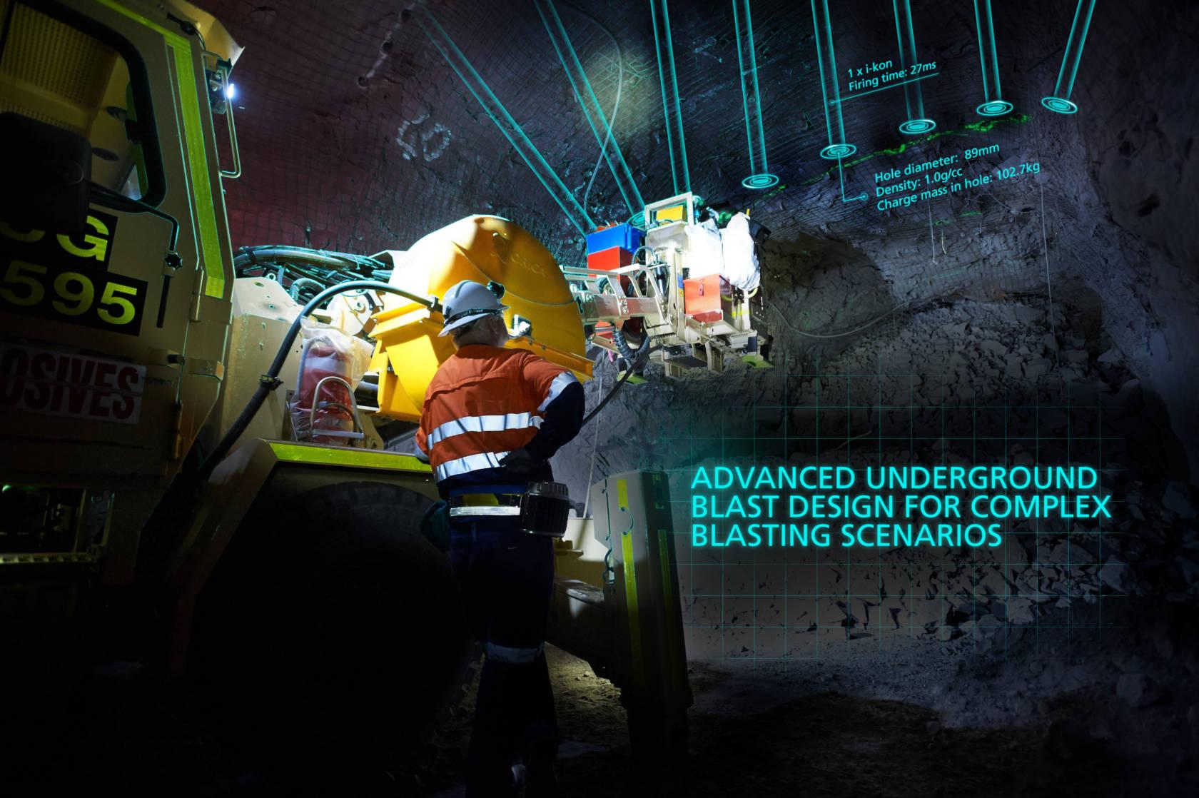 The Orica SHOTPlus™ Underground blast design software (Visualisation)