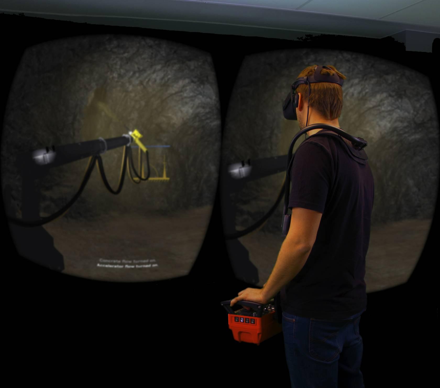 Edvirt's product the VR Shotcrete Simulator_1